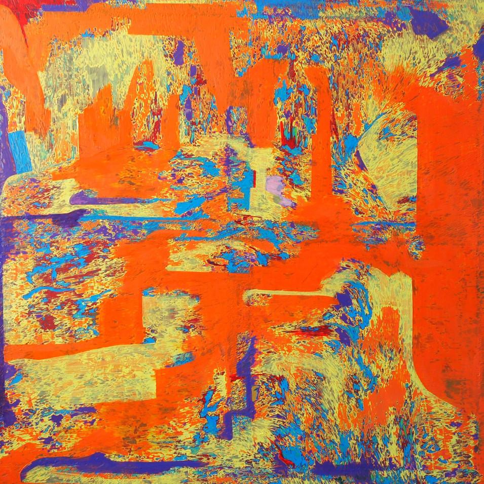 Mamiko Takayanagi | Sound of waves | 2016 | Öl auf Leinwand | 91 x 91 cm | 4500 Euro