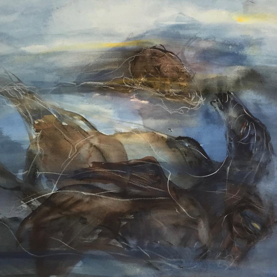 Dagmar Ranft-Schinke   Traum   1991   Mischtechnik, Aquarell, Kreide   55 x 66 cm   1400 Euro