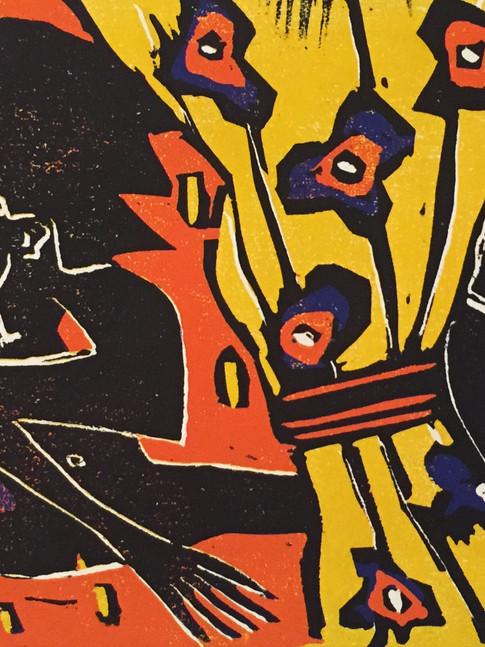 Klaus Süß   Verstecken spielen   Mappe Spiel mit mir   2012   Farbholzschnitt   5/6   35 x 50 cm  Mappe komplett 1300 Euro