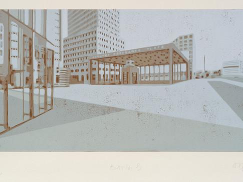 Harald Alff | Berlin 3 | FHS | 2013 | Papierformat 50 x 70 cm | Grafikformat 31,5 x 60 | 180 Euro