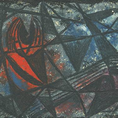 Georg Paul I Fisch I 1963 I Öl, Tampera auf Papier I 28 x 40 cm I 1400 Euro