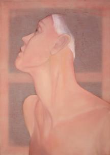 Marie-Christin Rothenbücher | Frauenbildnis | 2014 | Öl auf Nesselstoff | 50 x 70 cm | 950 Euro