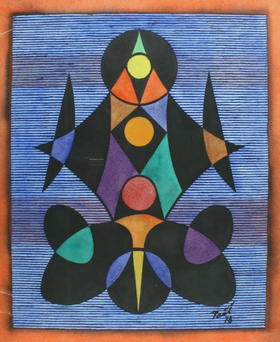 Georg Paul I Figurativ I 1978 I Aquarell und Tempera | 41 x 34 cm | 1100 Euro