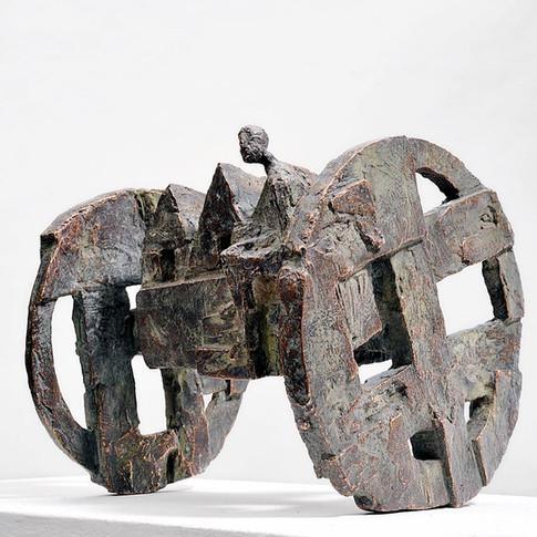 Michael Jastram | Drei-Häuser-Wagen | 2008 | Bronze | 2/6 | 18 x 21 x 19 cm | 6800 Euro