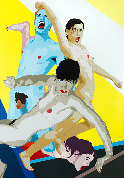 Florian Merkel | Auftrieb | 2011 | Acryl auf Leinwand | 200 x 140 cm
