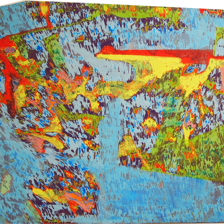 Mamiko Takayanagi | This blue sky | 2015 | Öl auf Leinwand | 28 x 47 cm | 1800 Euro