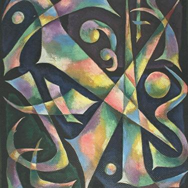 Georg Paul I Komposition I Öl auf aufgeklebter großer Sackleinwand I 80 x 69 cm I 3000 Euro