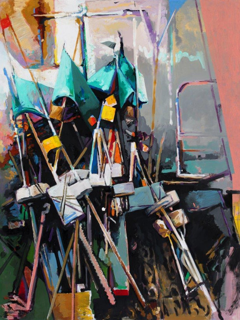 Eckehard Fuchs   Flags   2015   Öl auf Leinwand   190 x 145 cm   5400Euro