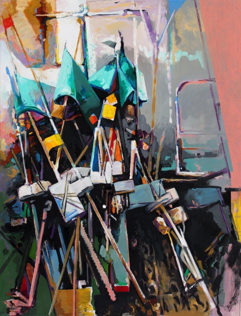 Eckehard Fuchs | Flags | 2015 | Öl auf Leinwand | 190 x 145 cm | 5400Euro