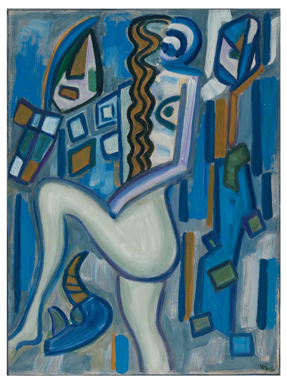 Veit Hofmann | Der Schritt | 2016 | Öl auf Leinwand | gerahmt | 80 x 60 cm | 3400 Euro