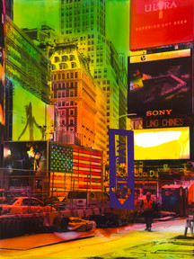 Jetzig, Helle | NY Reloaded E 10 | 2017 | Malerei und Siebdruck auf Fotografie | 30 x 40 cm | 650 Euro