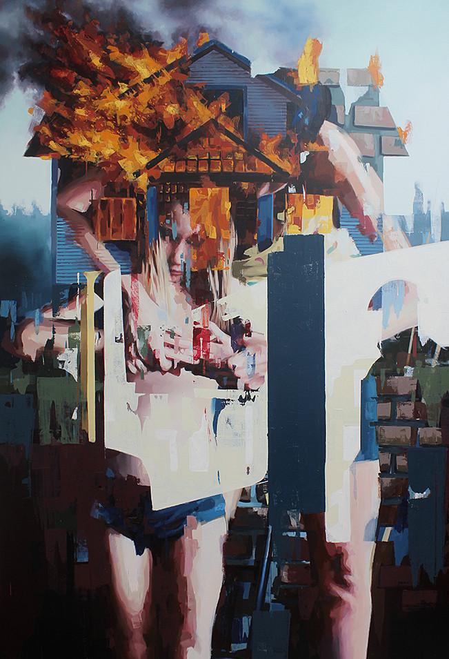 Franz Ehrenberg | Sicht I | 2013 | Öl auf Leinwand | 260 x 170 cm | verkauft
