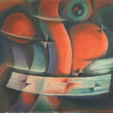 Georg Paul I Komposition I o. J. I Öl auf Pappe I 70 x 90 cm I 3200 Euro