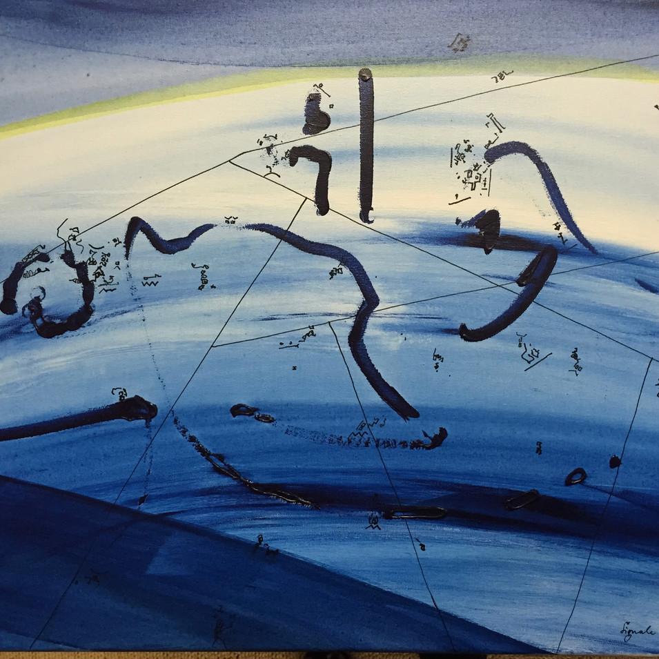 Dagmar Ranft-Schinke   Signale aus dem All   2008   Acryl auf Leinwand   40 x 50 cm   950 Euro