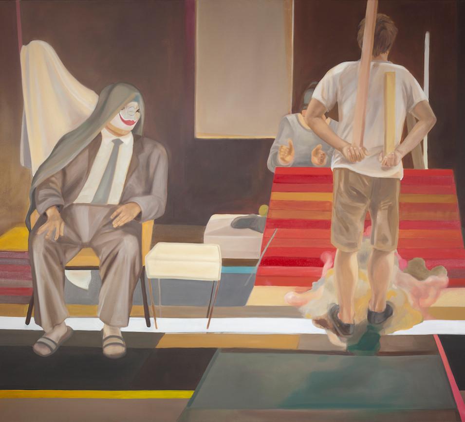 Melanie Kramer | Niemandes Land | 2012 | Öl auf Leinwand | 170 x 190 cm | 3950 Euro