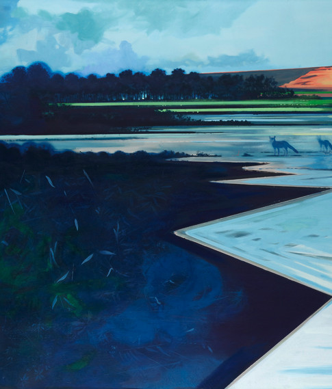 Thomas Geyer | Tagebau | 2015 | Eitempera auf Leinwand | 150 x 180 cm | 3650 Euro