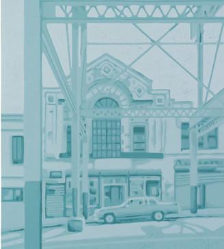 Harald Alff | New York | Farbholzschnitt | 2013 | Papierformat 60 x 42 cm | Grafikformat 48 x 32 cm | 150 Euro