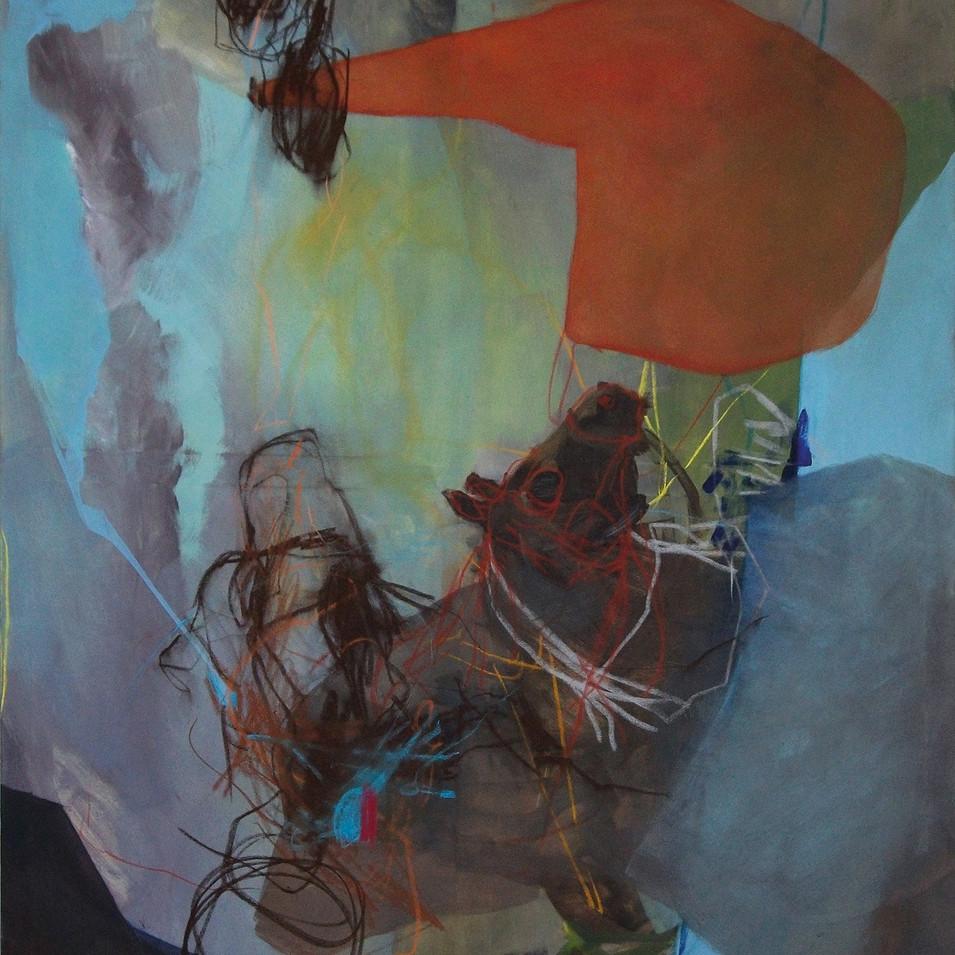 Vivien Nowotsch | A. Traum | 2013 | Öl, Pastellkreide auf Leinwand | 150 x 120 cm | 2900 Euro
