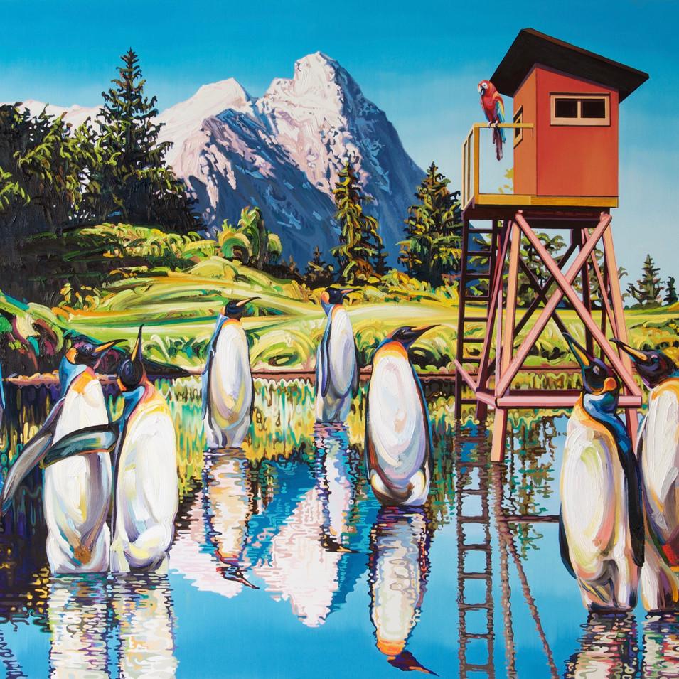 Changmin Lee | Reisende |2016 | Öl auf Leinwand | 150 x 200 cm | 9000 Euro