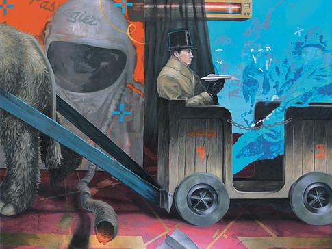 Axel Teichmann | Der Passagier | 2008 | Acryl auf Leinwand | 100 x 120 cm | 6600 Euro