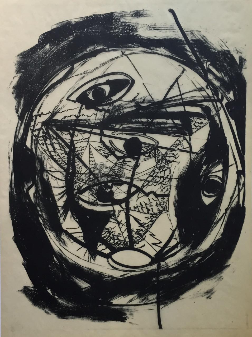 Carlfriedrich Claus | Psychische Vorgänge | 1973 | 49 x 35,5 cm
