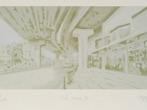 Harald Alff | Tel Aviv 3 | FHS | 2012 | Papierformat 50 x 70 cm | Grafikformat 31,5 x 60 | 200 Euro