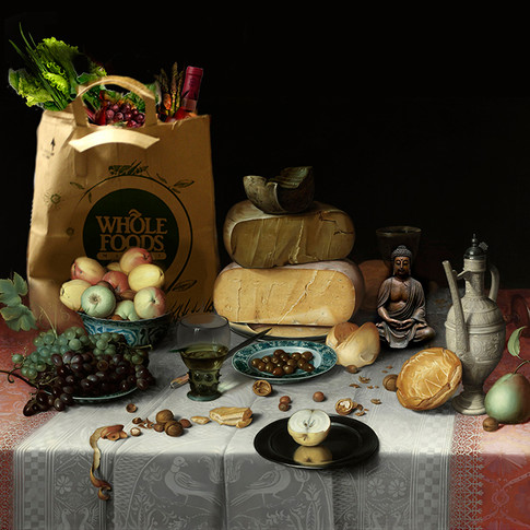 Oxana Jad   Intervention   Floris Claesz & Whole Foods   2016   Fine Art Pigmentdruck auf Alu-Dipond   Auflage 5 +2   70 x 77 cm