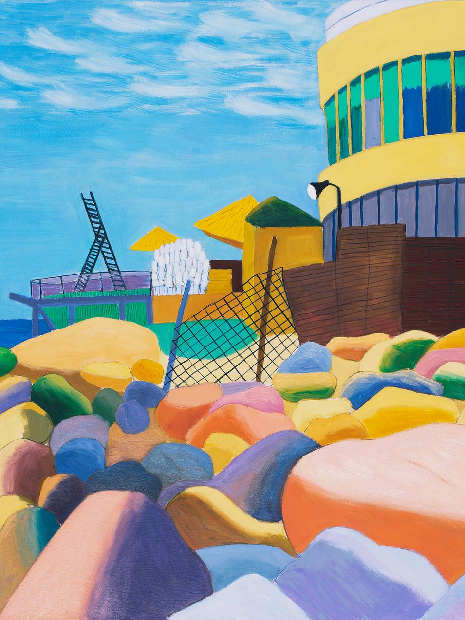 Gudrun Petersdorff | Tel Aviv | 2013 | Öl auf Leinwand | 86 x 100 cm |4200 Euro