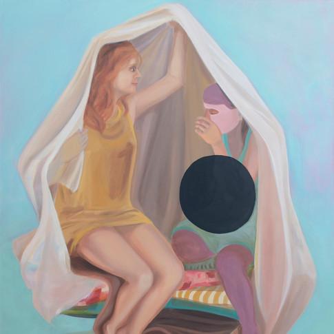 Melanie Kramer | Gehäuse-II | 2013 | Öl auf Leinwand | 150 x 130 cm | 3100 Euro