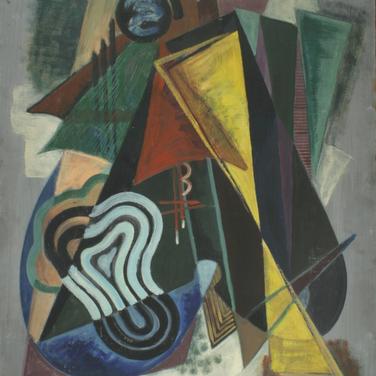 Georg Paul | Komposition | o.J. | Öl auf Pappe | 84 x 69 cm | 3100 Euro