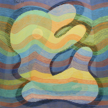 Georg Paul I Verschlungene Formen, linear I 1972 I 36 x 33 I 1400 Euro