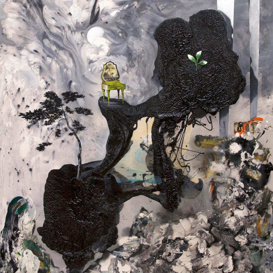 HaNuk Jung | make up | 2014 | Öl und Emaille auf Leinwand | 160 x 130 cm | 5800 Euro