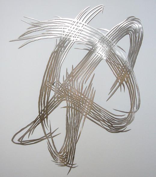 Barbara Szüts | Spiegelung 2010 | 2012 | Skulptur, Edelstahl | 58 x 53 x 0,1 cm