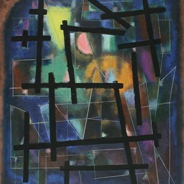 Georg Paul I Komposition I 1986 I Tempera I 57 x 47 cm I 2100 Euro