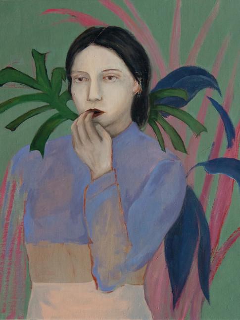 Katharina Baumgärtner | Hockneygirl | 2015 | Öl auf Leinwand | 55 x 45 cm | 550Euro