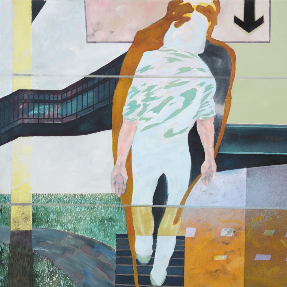 Pierre Fischer | Down Rework | 2003 - 14 | Öl und Acryl auf Leinwand  | 65 x 65 cm | 2800 Euro
