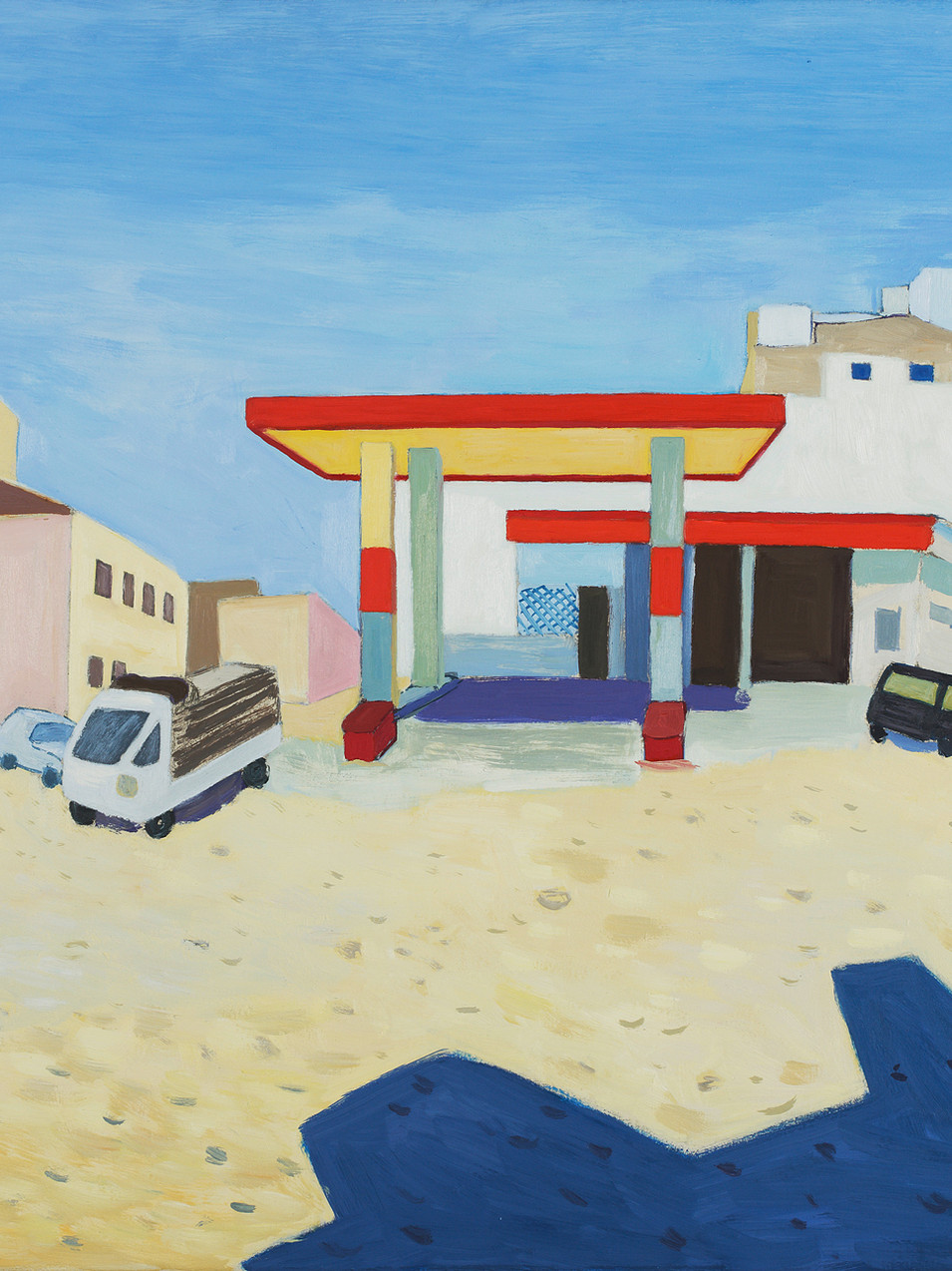 Gudrun Petersdorff | 2011 | Vor der Stadt (Essaouira) | Öl auf Leinwand | gerahmt | Kat. S. 108 |3200 Euro