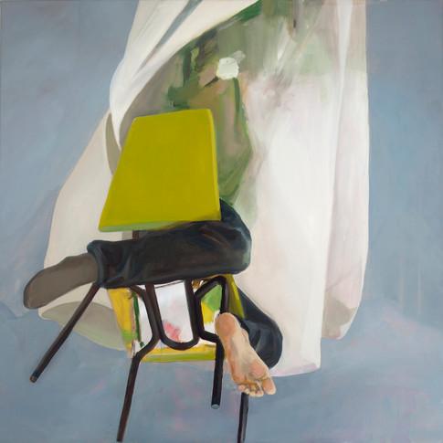 Melanie Kramer | Flieg | 2012 | Öl auf Leinwand | 100 x 100 cm | 2200 Euro