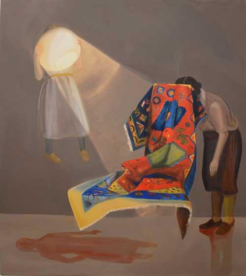 Melanie Kramer | Gehäuse V | 2014 | Öl auf Leinwand | 185 x 165 cm | 3850 Euro
