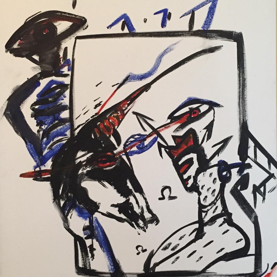 Dagmar Ranft-Schinke   Neuer Kaiser   1994   Acryl auf Leinwand   100 x 70 cm  3 Werke = 7000 Euro