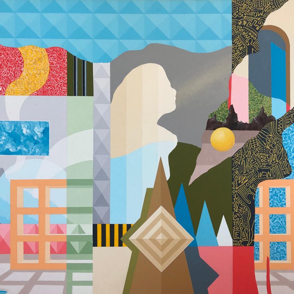 Harald Gallasch | In der Wildniss | 2006 | Acryl auf Leinwand | 100 x 70 cm | 3300 Euro