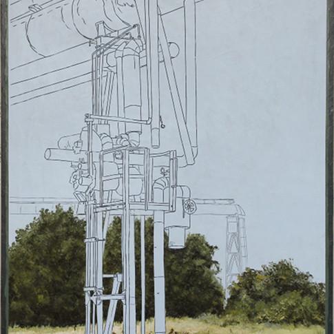 Andrea Imwiehe | Anamnesis | Acryl auf Holz | 100 x 70 cm | 3400 Euro