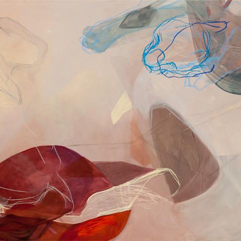 Vivien Nowotsch | Gestirn | 2015 | Acryl, Pastellkreide auf Leinwand | 119 x200cm| 3500 Euro