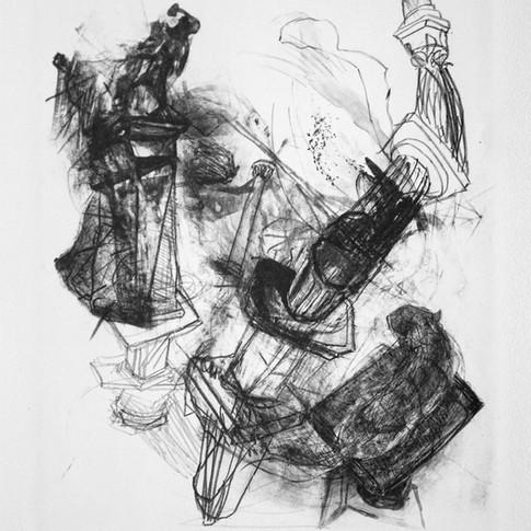 Vivien Nowotsch | Aufstieg | 2015 | Lithografie | 30 x 25 cm