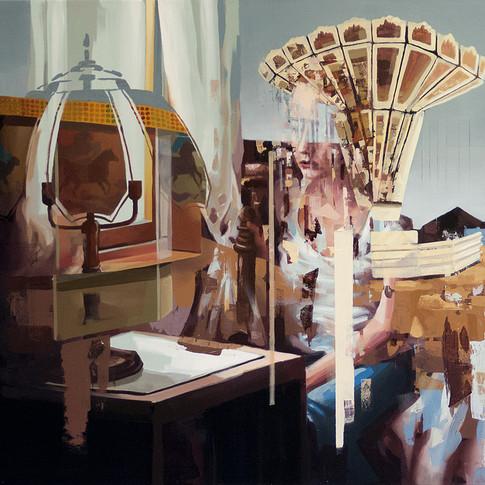 Franz Ehrenberg | Pferdemädchen | 2015 | Öl auf Leinwand | 120 x 110 cm | 4600 Euro