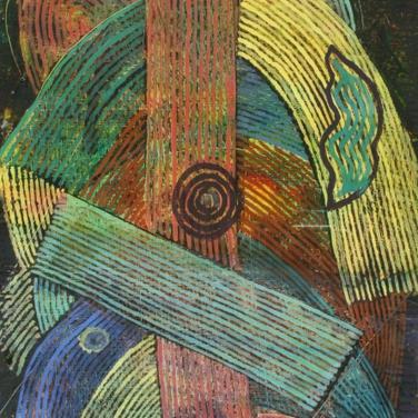 Georg Paul I Komposition I 1969 I Tempera, linear, Öl und Lasur I 35 x 19 cm I 1100 Euro
