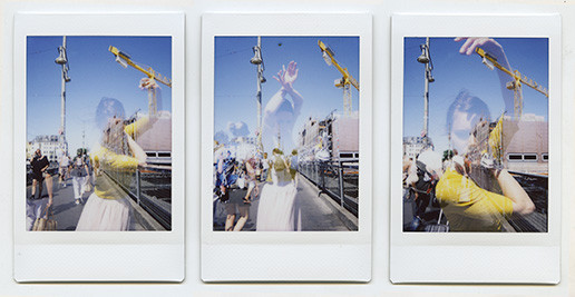 Florian Merkel | Brücke |2018 | FUJI Instax mini |3x Bildformat 6,1 x 4,5 cm Rahmenmaß 18 x 32,5 cm | 1520 Euro