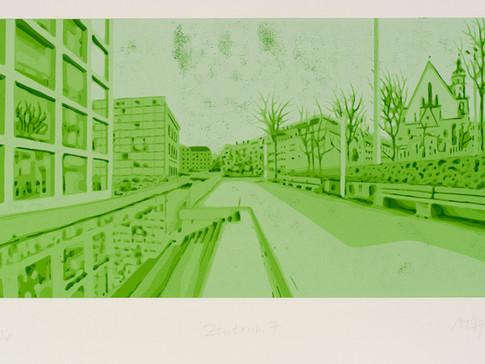 Harald Alff | Zentrum 7 | FHS auf MDF | 2012 | Grafikformat 31,5 x 60 cm | 220 Euro