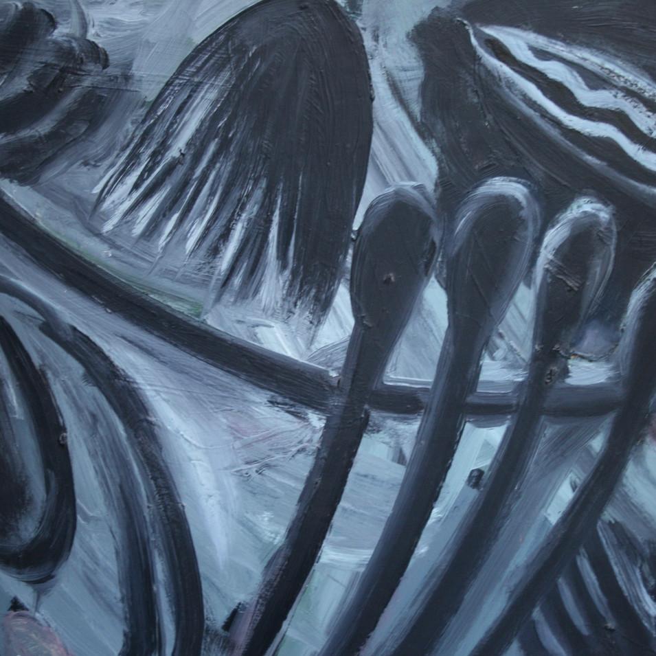 Hubertus Giebe | Schwarzes Stilleben | 1996 | Ölfarbe auf Leinwand | 65,5 x 75 cm | 4900 Euro