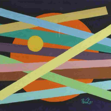 Georg Paul I Komposition 39 I 1971 I Tempera I 22 x 30 cm I 1000 Euro